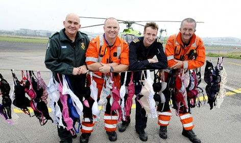 Great Western Air Ambulance Charity Collects Bras