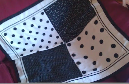 monochrome spotty scarf