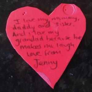 Toddler love letter