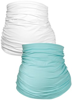 Belly Bands 2pk – aqua/white