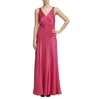 Ghost Gabriella Cross Front Dress, Fuchsia