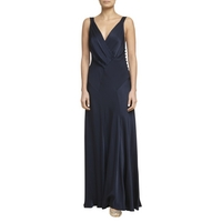 Ghost Gabriella Cross Front Dress, Navy