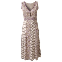 East Violetta Paisley Print Dress, Wisteria