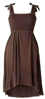 Boob Nursing Goldie Breastfeeding Dress, Brown