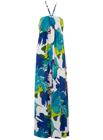 Blue palm tree print maxi
