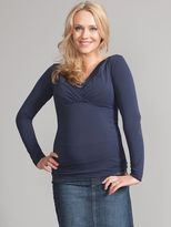Seraphine Adele V-Neck Maternity/Nursing Top, Navy