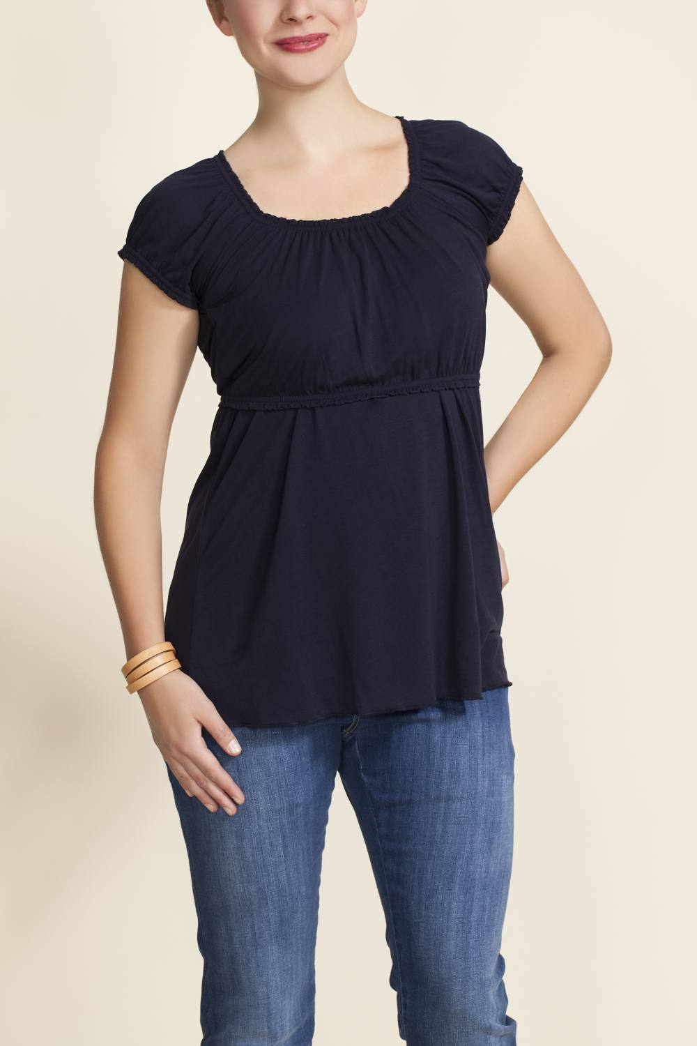 Boob Design Carmen Nursing Blouse, Navy Blue