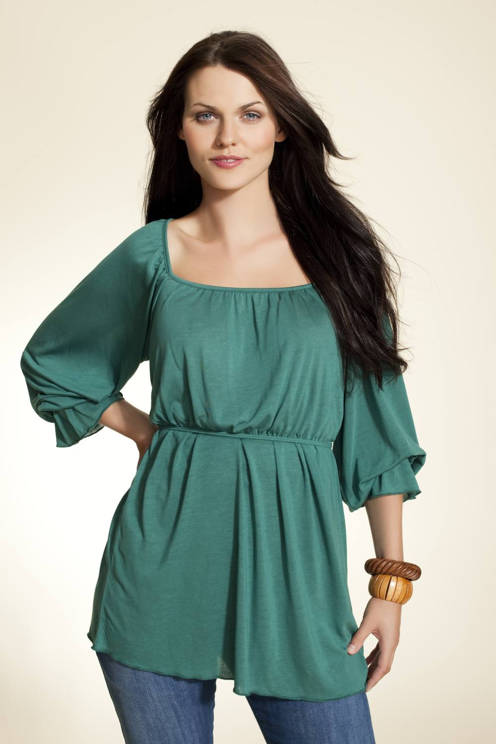 Boob Design Kate Nursing Blouse, Jade Green