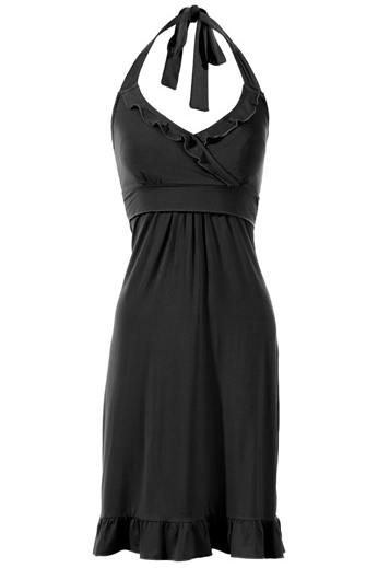 Milk Nursingwear Flirty Halter Nursing Dress, Black