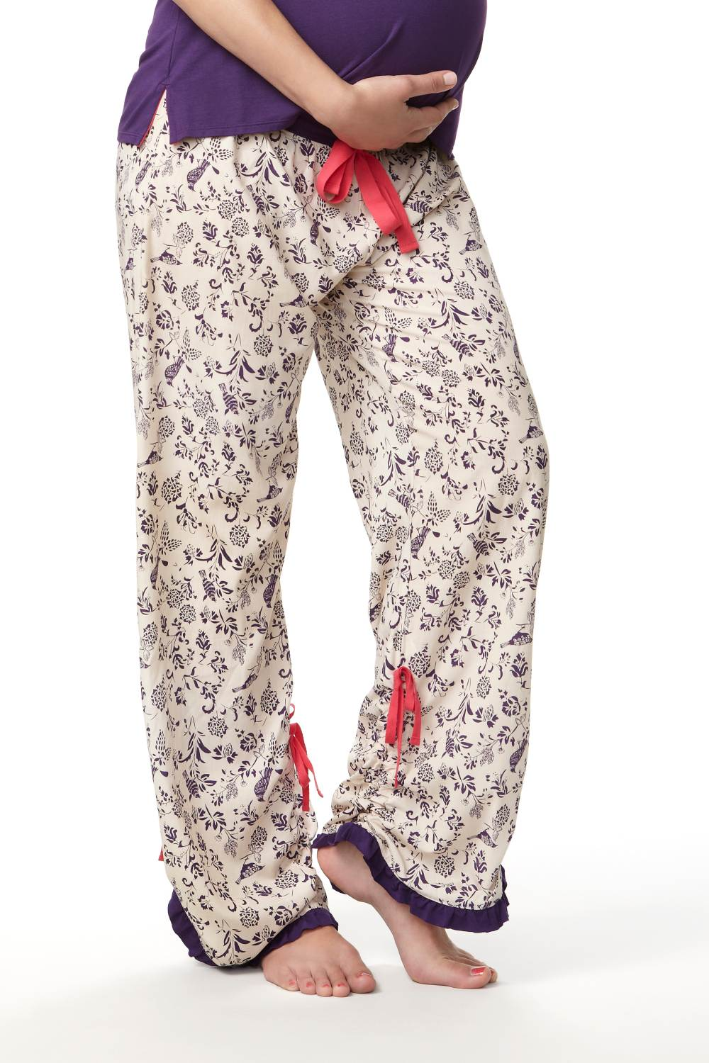 HOTMilk Step Right Up Pyjama Trousers, Purple Print