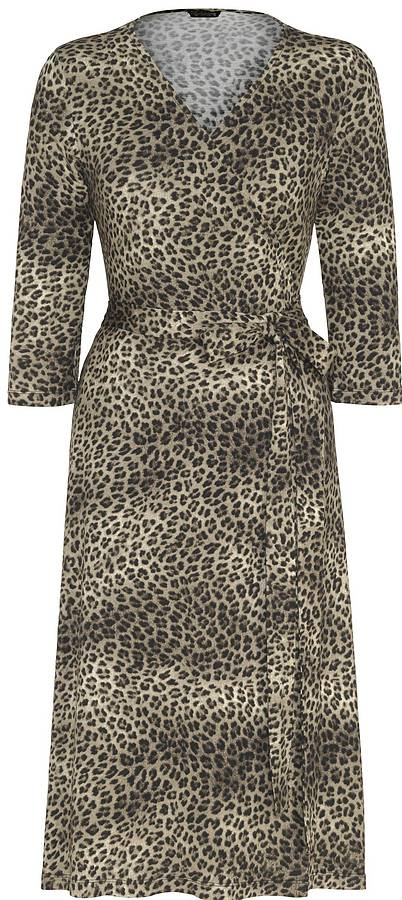 NoLoGo Leopard Print Jersey Wrap Dress