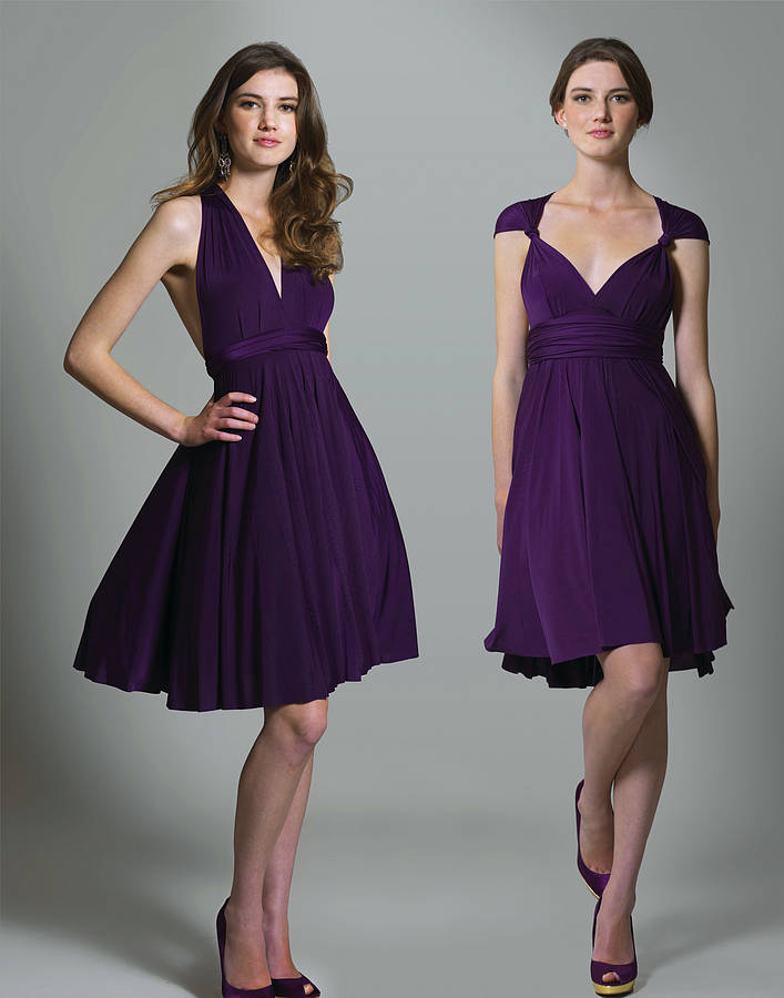 Purple Multiway Knee Length Dress
