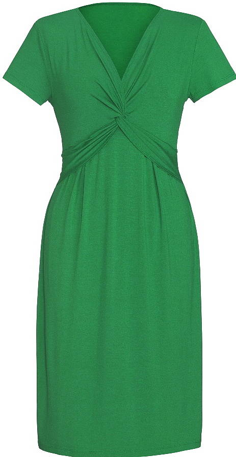 Easy Cocktail Jersey Dress, Green