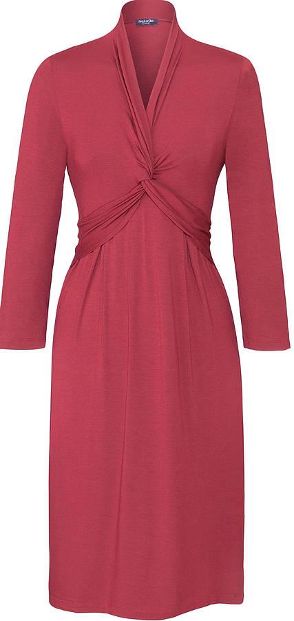 NoLoGo Easy Long Sleeve Jersey Dress, Raspberry