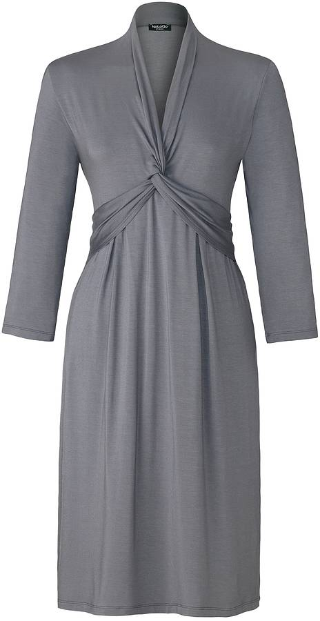 NoLoGo Easy Long Sleeve Jersey Dress, Pewter