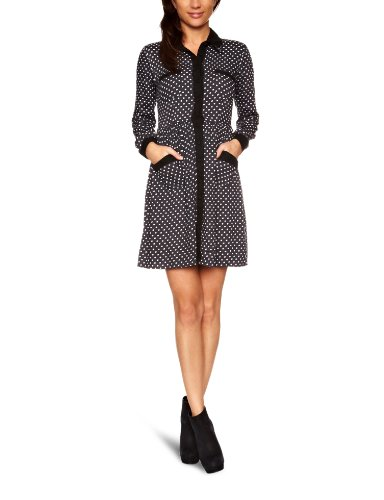 Ruby Rocks RR744 Shirt Dress, Grey