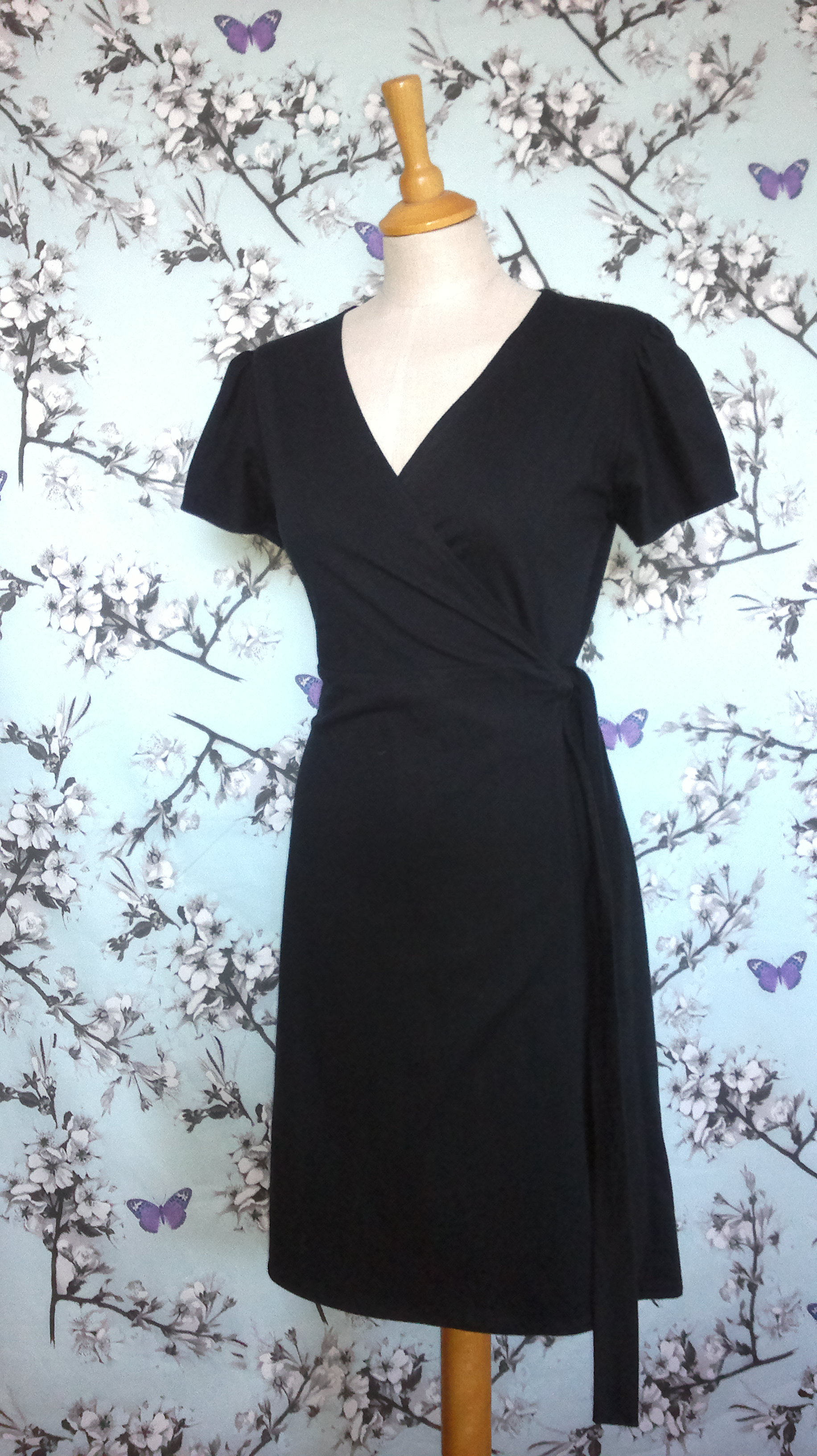 Elegant Black Wrap Dress