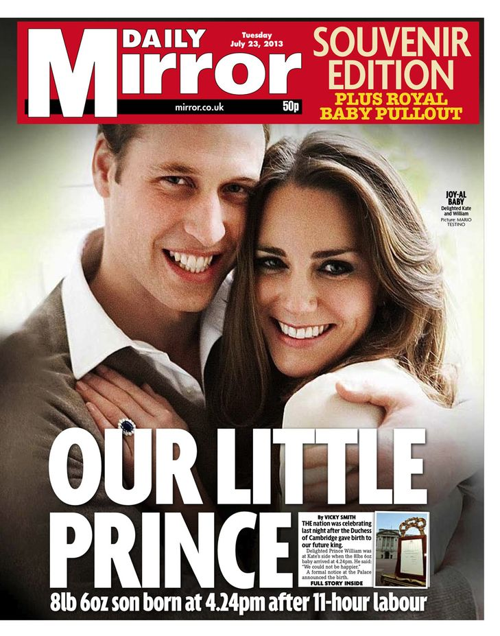 Royal Baby Newspaper Cover