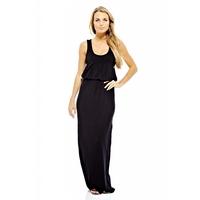 Plain Elasticated Waist Maxi Dress