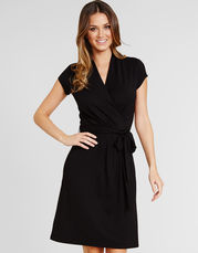 Fern D-G Cap Sleeve Wrap Dress