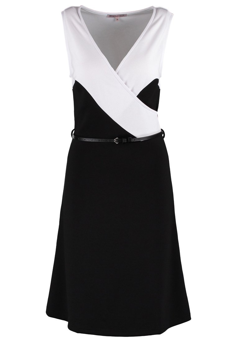 Anna Field Jersey dress black/white