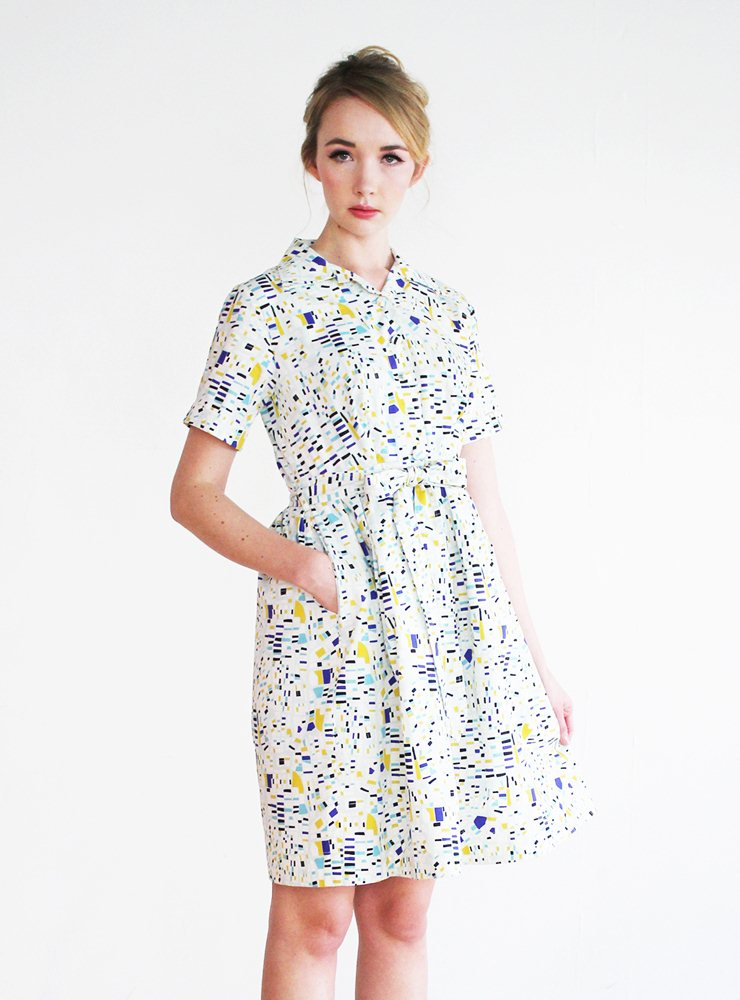 Betty Art Deco Utility Dress – UK 12