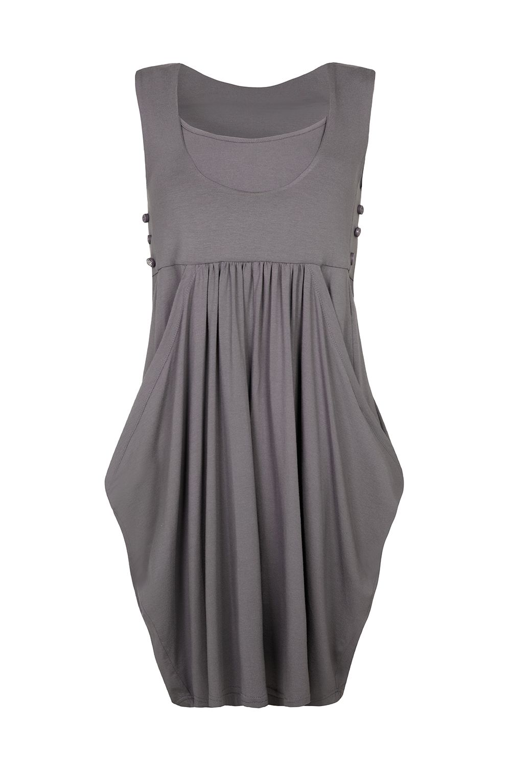 Bibee Maternity Cowl-front dress, Grey
