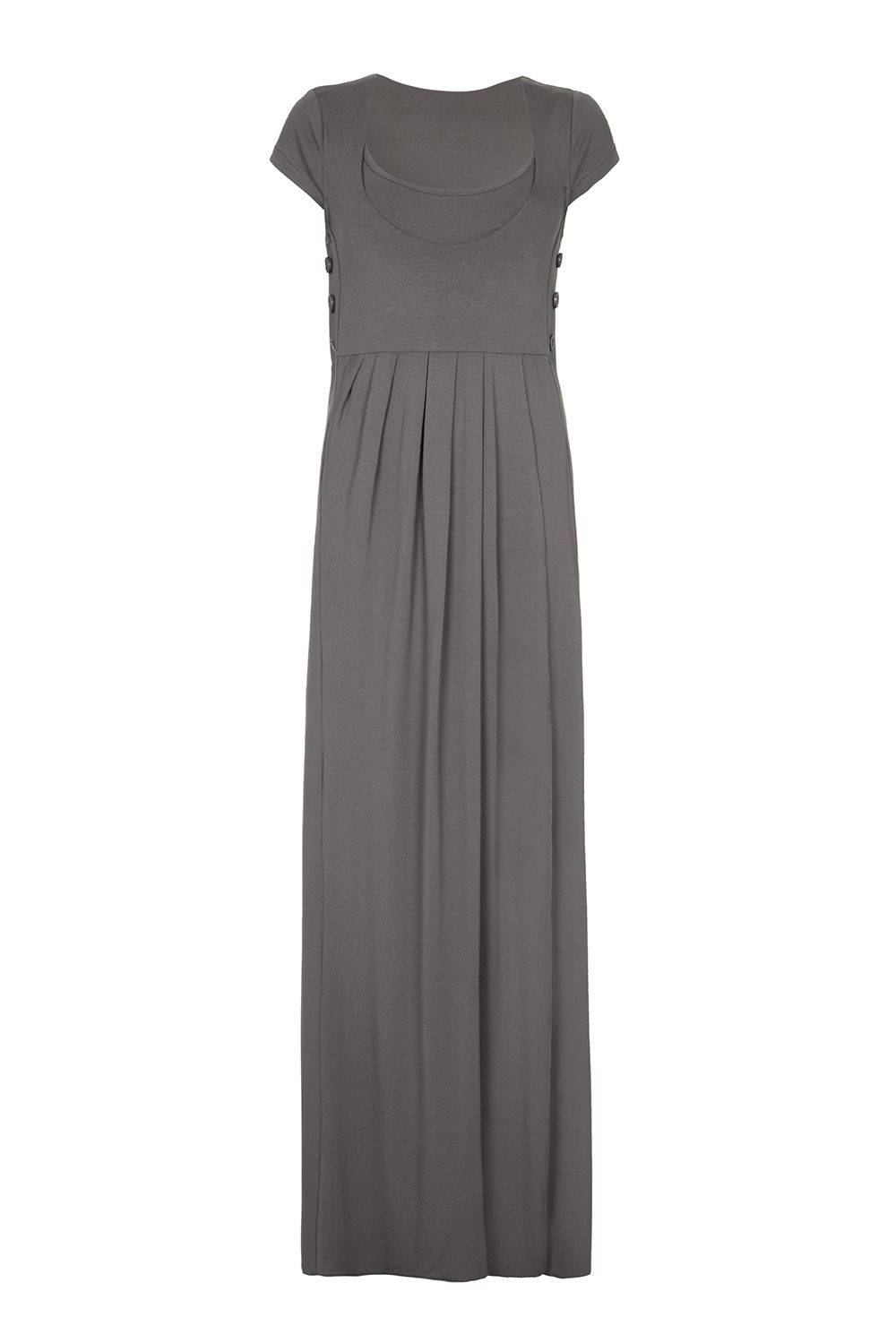 Bibee Maternity Drape front evening dress, Grey