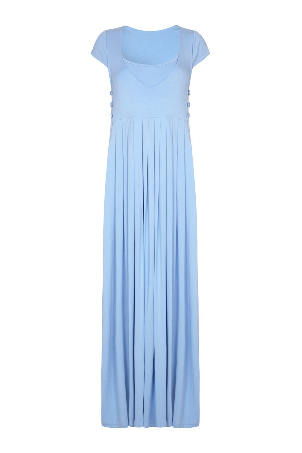 light blue maternity maxi dress