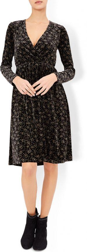 Blair Velvet Print Dress
