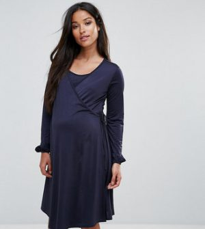 Bluebelle Maternity Bluebelle Nursing Wrap Front Dress With Bell Sleeve