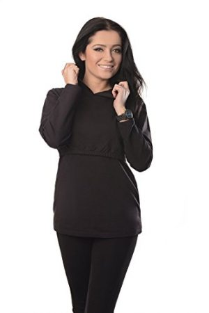 discreet-soft-nursing-and-breastfeeding-hoodie-9051-black