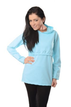 Discreet Soft Nursing And Breastfeeding Hoodie 9051, Mint