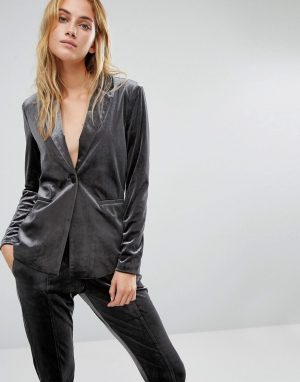 Fashion Union Velvet Suit Jacket