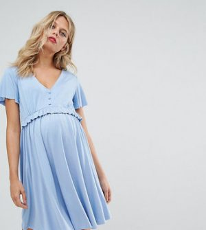 Gebe Maternity Nursing Frill Detail Skater Dress