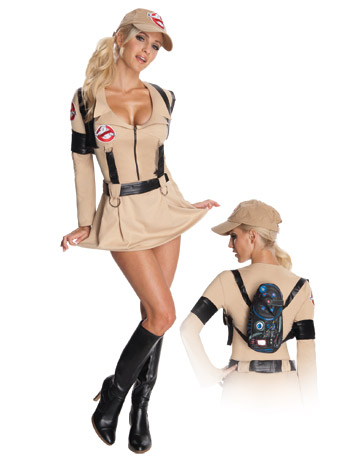 Breastfeeding friendly Ghostbusters dress up