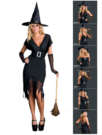 Breastfeeding friendly witch costume