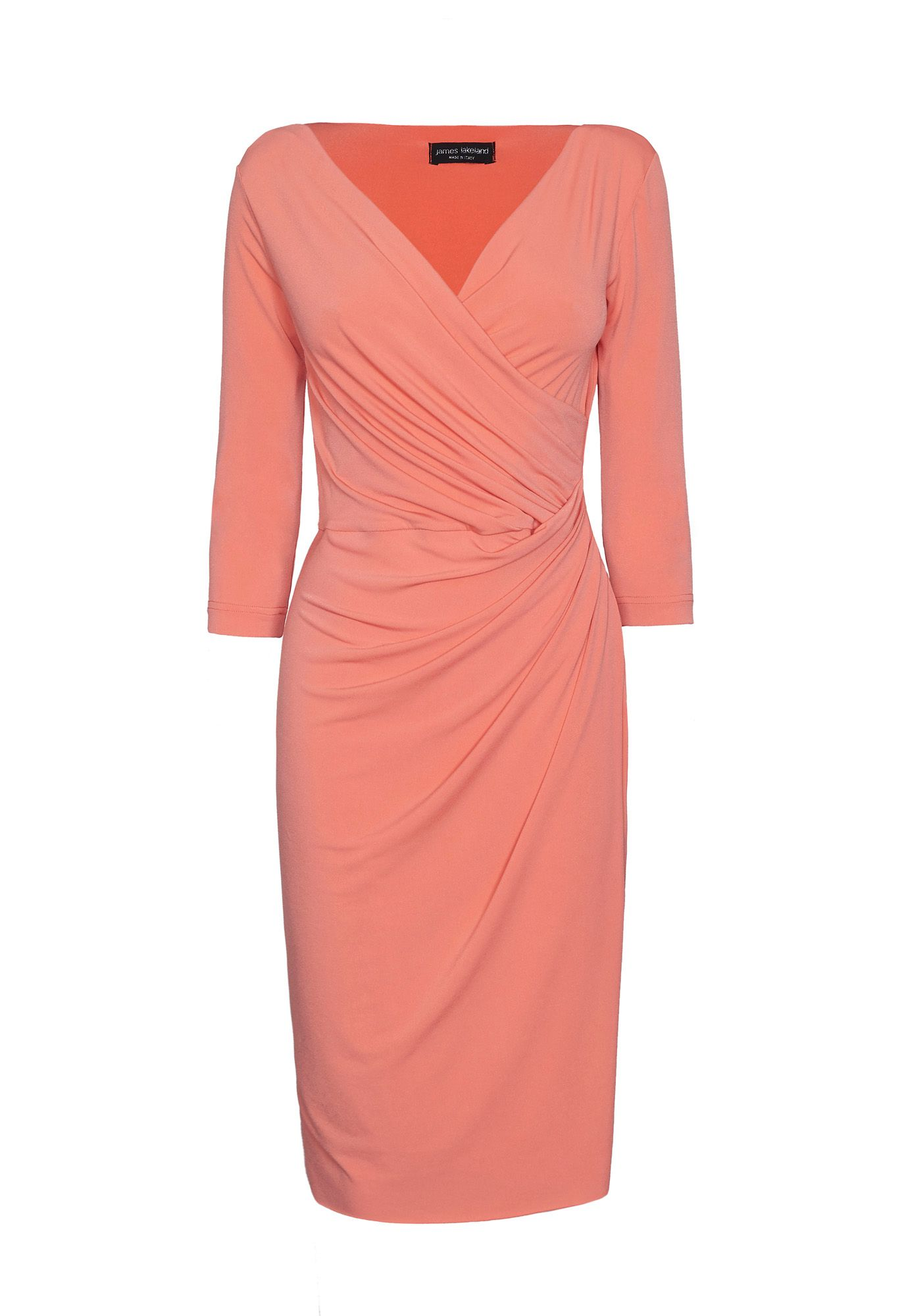 James Lakeland V Neck Wrap Dress, Orange