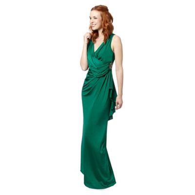 Jenny Packham green jersey maxi dress