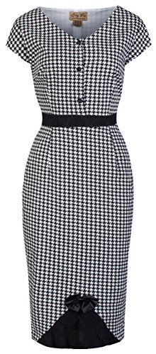 Lindy Bop 'Greta' Vintage 50's Style Dogtooth Pencil Dress