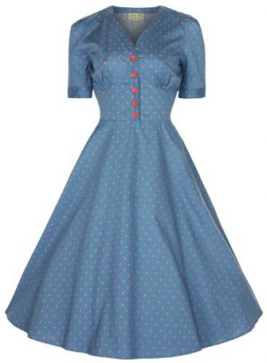 Lindy Bop 'Ionia' Vintage 1950's Style Tea Shirt Dress