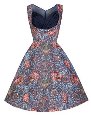 Lindy Bop 'Ophelia' Floral Print 1950's Vintage Inspired Swing Dress, Multi/Print