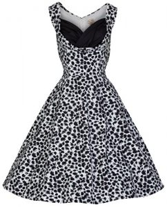 Lindy Bop 'Ophelia' Vintage 1950's Monochrome Party Swing Dress
