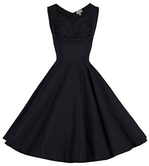 Lindy Bop 'Ophelia' Vintage 1950's Prom Swing Dress, Black