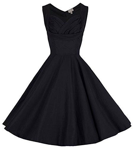 Lindy Bop 'Ophelia' Vintage 1950's Prom Swing Dress, Black