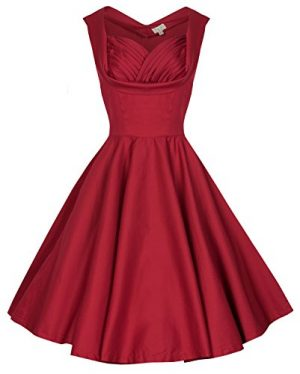 Lindy Bop 'Ophelia' Vintage 1950's Prom Swing Dress, Red