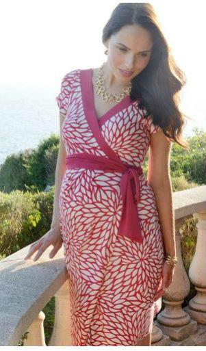 Seraphine Raspberry Nursing Dress