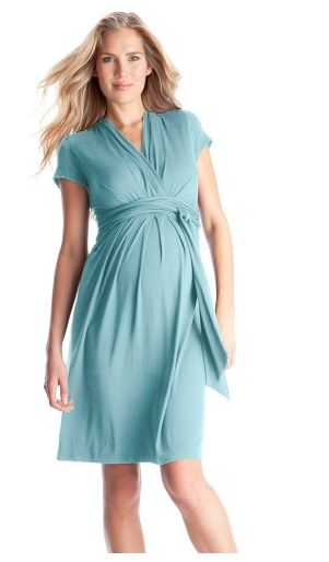 Seraphine Sea Breeze Tie Maternity Nursing Dress