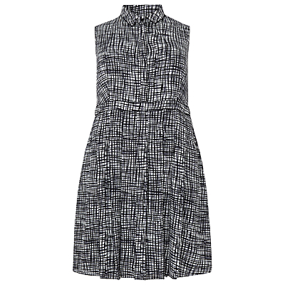 Studio 8 Sally Shirt Dress, Black / White