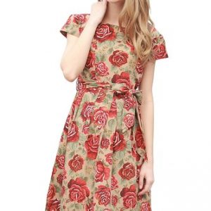 Sweet Mommy Floral Nursing Dress